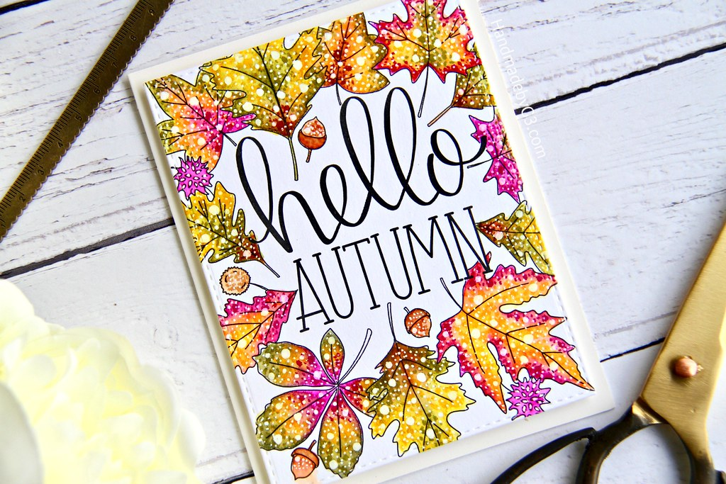 STAMPtember fall card #1 closeup