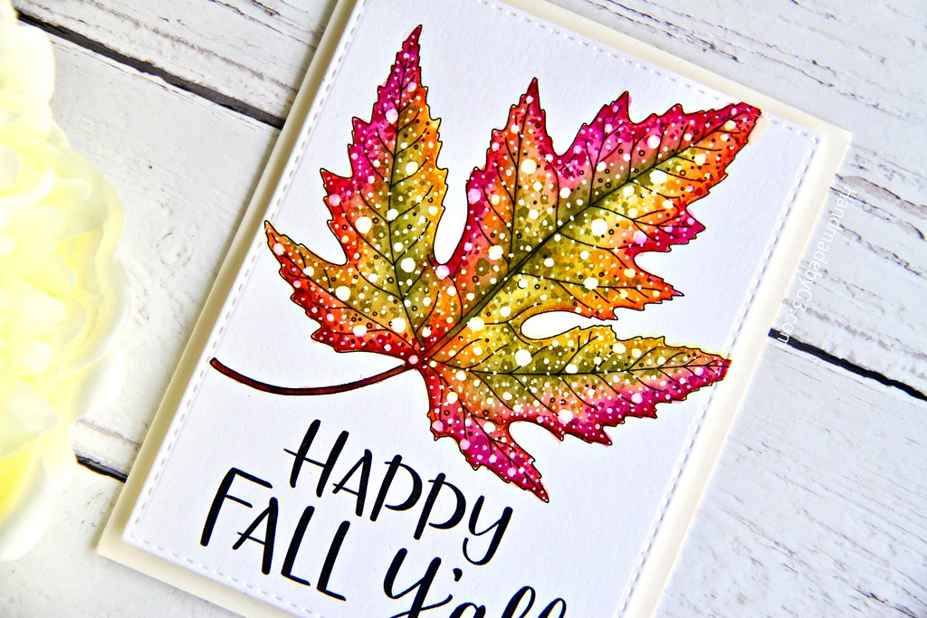 STAMPtember fall card #2 closeup1