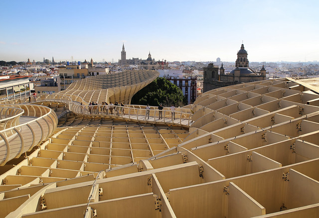 Rooftop walk on the Metropol Parasol
