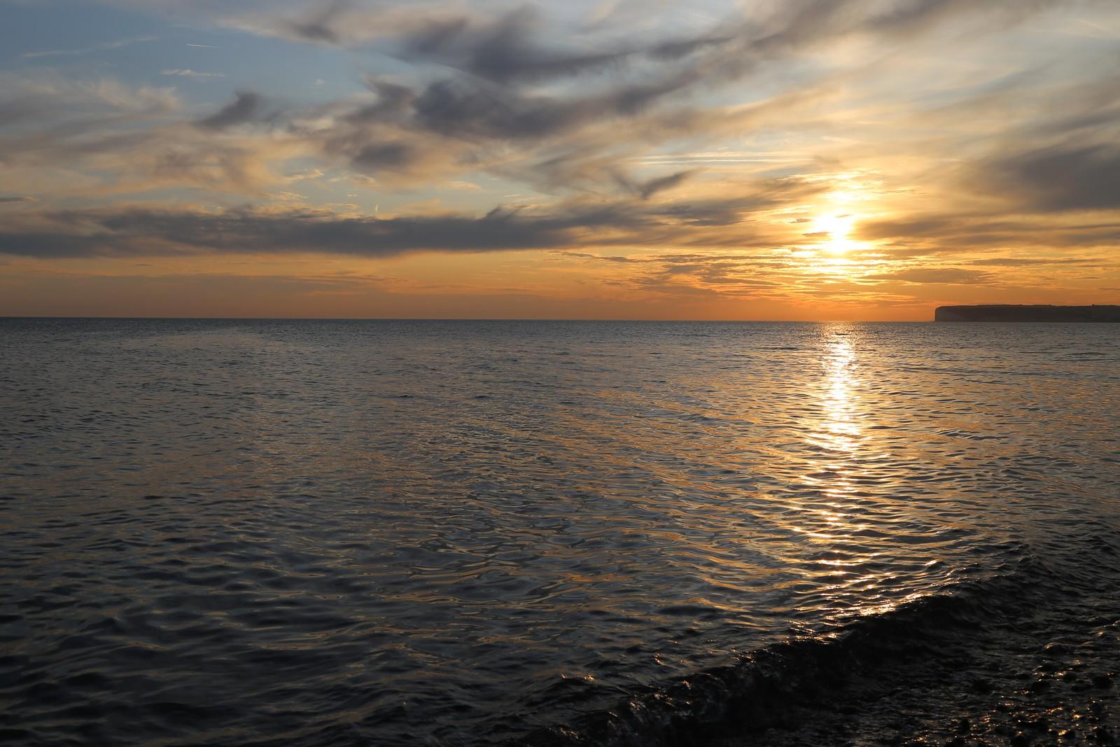 Sun going down - Birling Gap