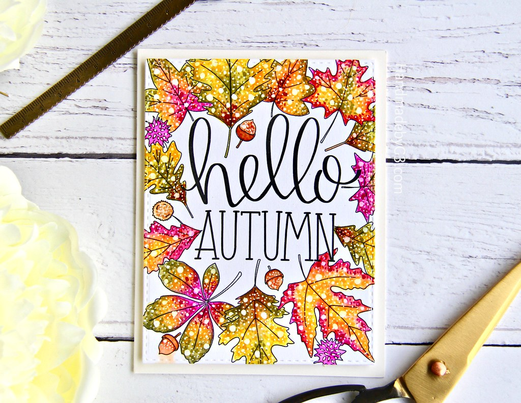 STAMPtember fall card #1