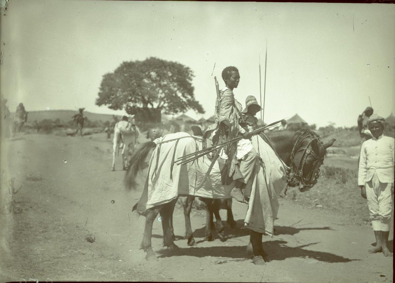 260. Абиссиния, провинция Харар, г. Харар. Эфиопский воин