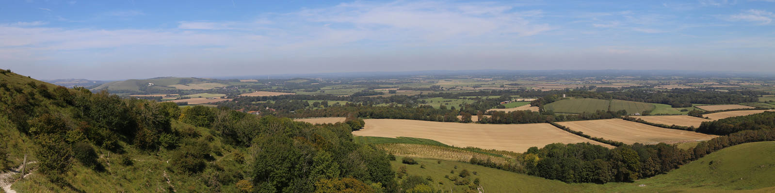 A View North from the South Downs - Near Alciston
