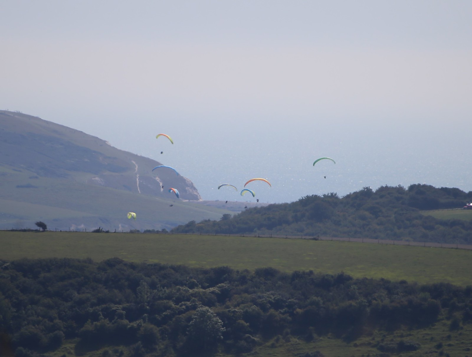 Paragliders - near Norton