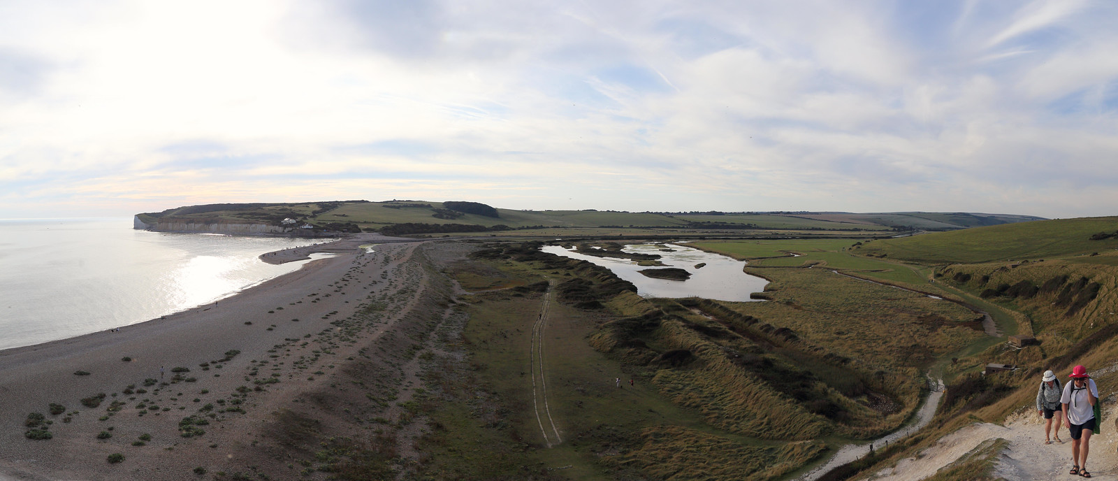 Walking up from Cuckmere Haven