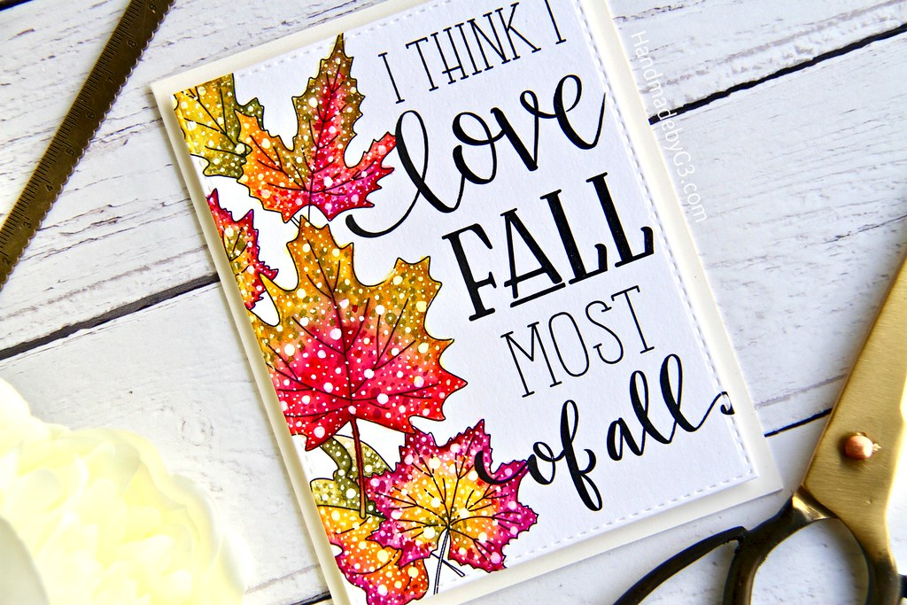 STAMPtember fall card #3 closeup1