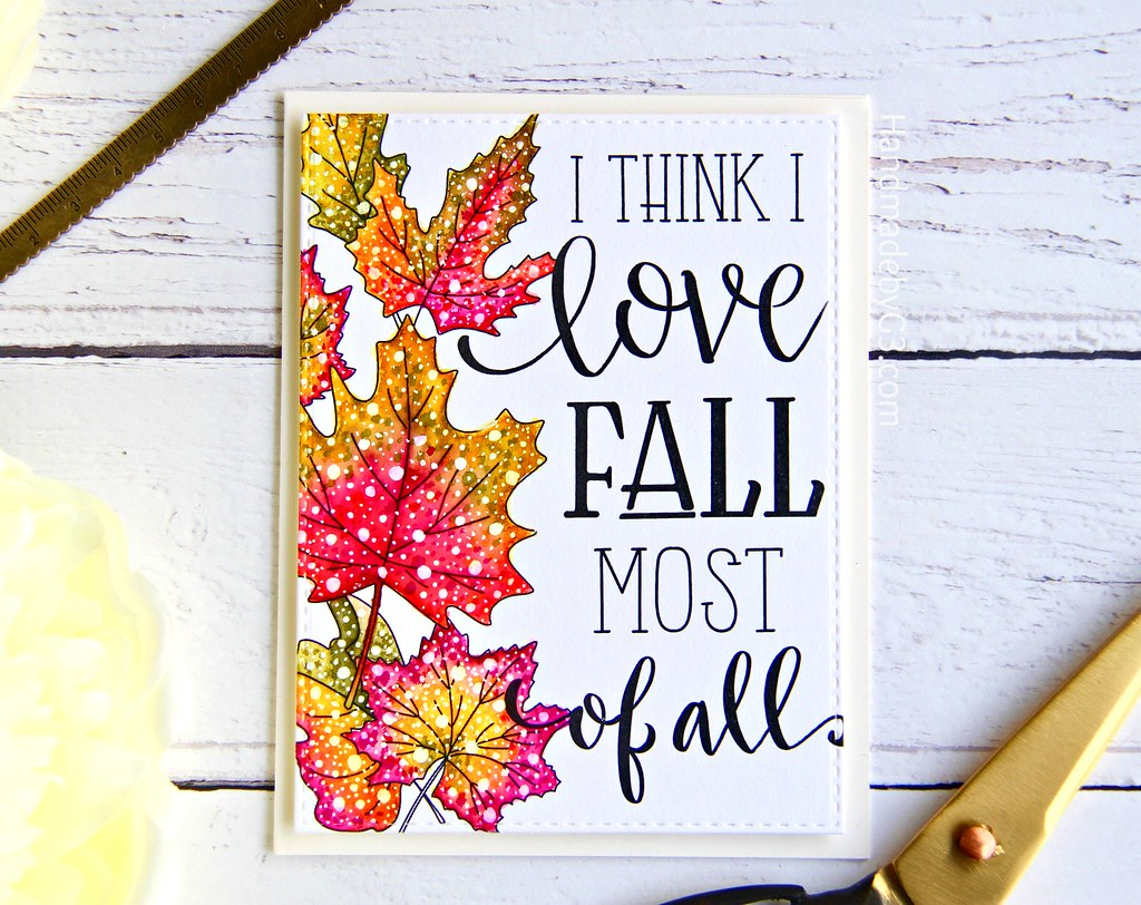 STAMPtember fall card #3