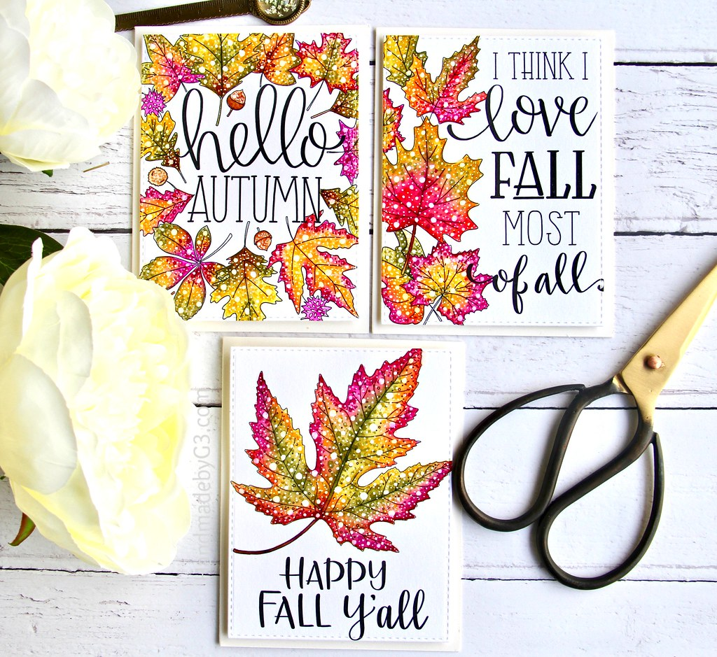 STAMPtember fall card set