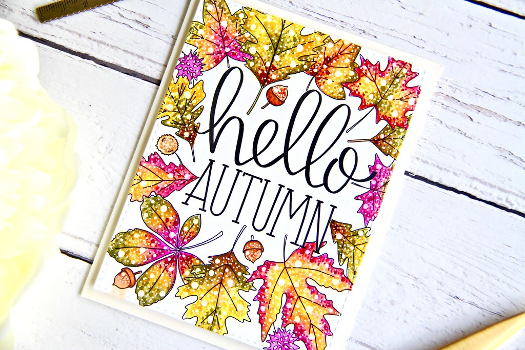 STAMPtember fall card #1 closeup1