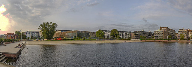 Bystranda (The City Beach) is a Blue Flag beach in the southeastern part of the downtown of the city of Kristiansand in Vest-Agder county, Norway. It is located just east of the mouth of the river Otra.[1] The shallow sandy beach by the Kristiansand Board