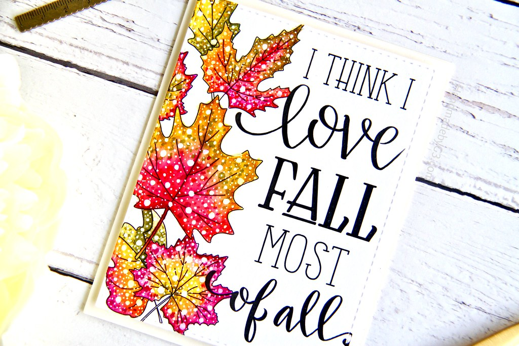 STAMPtember fall card #3 closeup