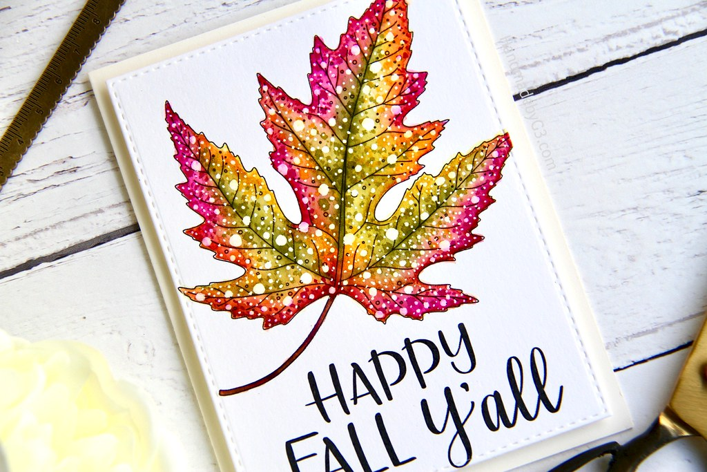 STAMPtember fall card #2 closeup