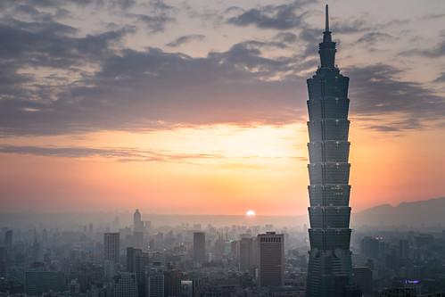 sunset taipei101 taipei taiwan city cityscape
