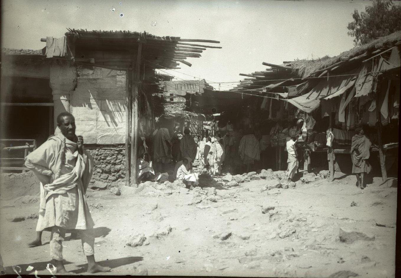 259. Абиссиния, провинция Харар, г. Харар. Базарная улица. Галла