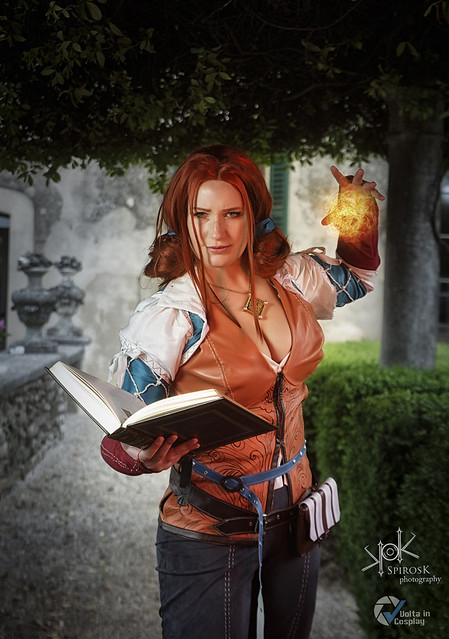 Sacchy Cosplay as Triss from Witcher III, by SpirosK photography
