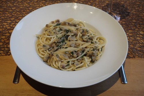 Spaghetti alle Vongole (mein Teller)