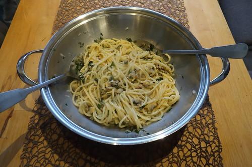 Spaghetti alle Vongole (in der Pfanne)