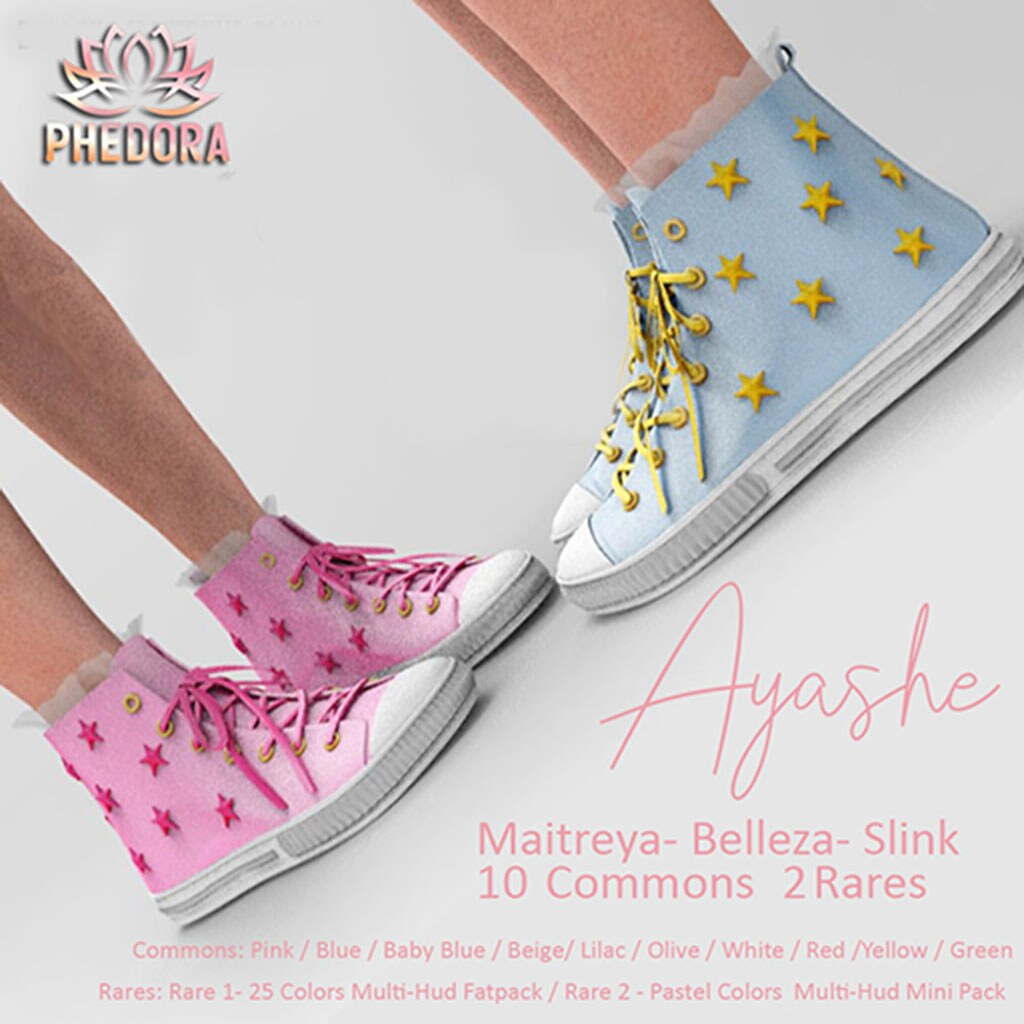 "Phedora for The Arcade - ""Ayashe"" sneakers Gacha ♥ - TeleportHub.com Live!"