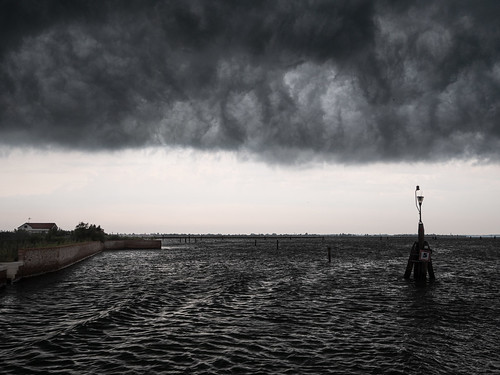 Venice: storm in the lagoon
