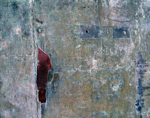 Metal door texture at Tu Duc's royal tomb in Hue, Vietnam
