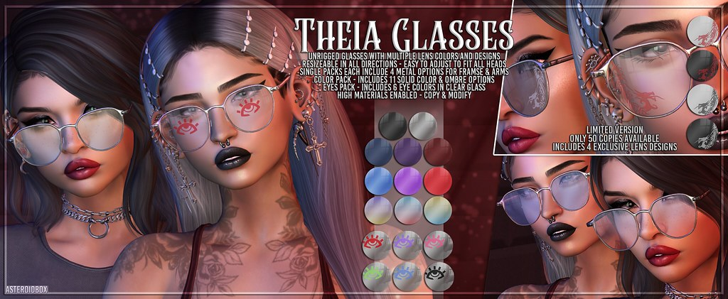 AsteroidBox. Theia Glasses – 50/50 Mainstore Event