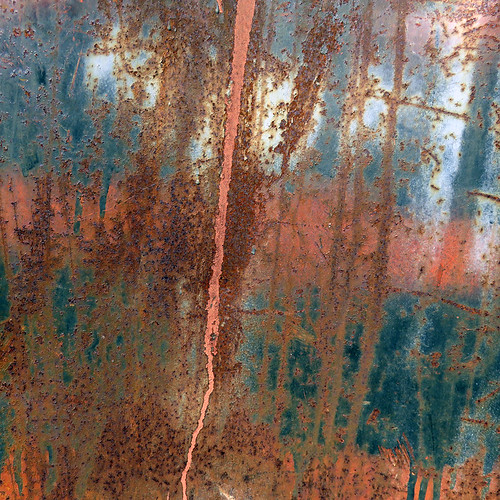 Rust on metal at Capital Iron store in Victoria, Canada