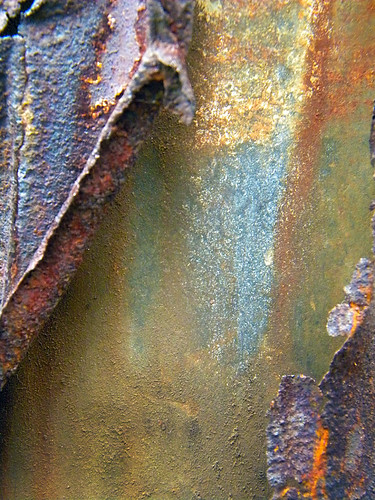 Rusty decaying metal on Granville Island, Vancouver, Canada