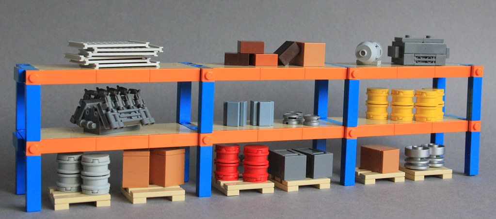 Industrial Shelving Units (custom built Lego model)