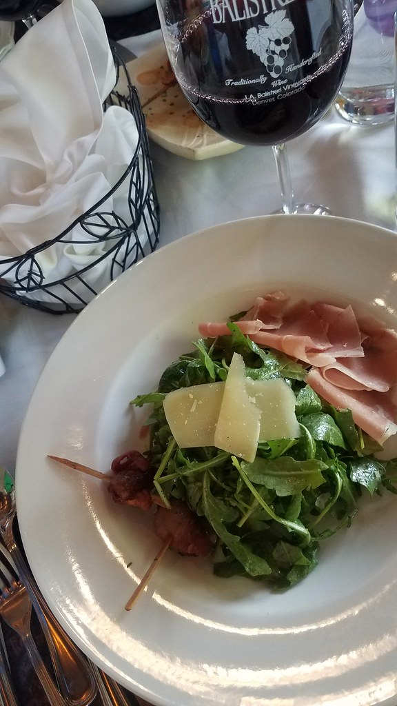 Arugula Salad with Prosciutto, Balistreri Vineyards, Denver CO
