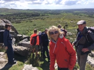 Setting off from Pew Tor
