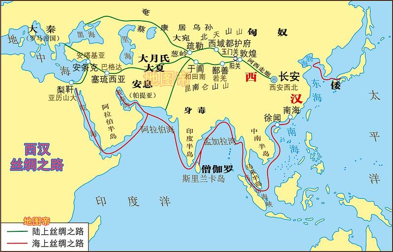 西汉丝绸之路