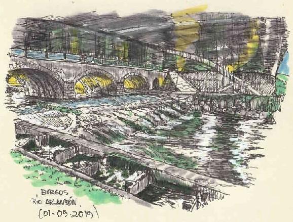 Burgos. Río Arlanzón