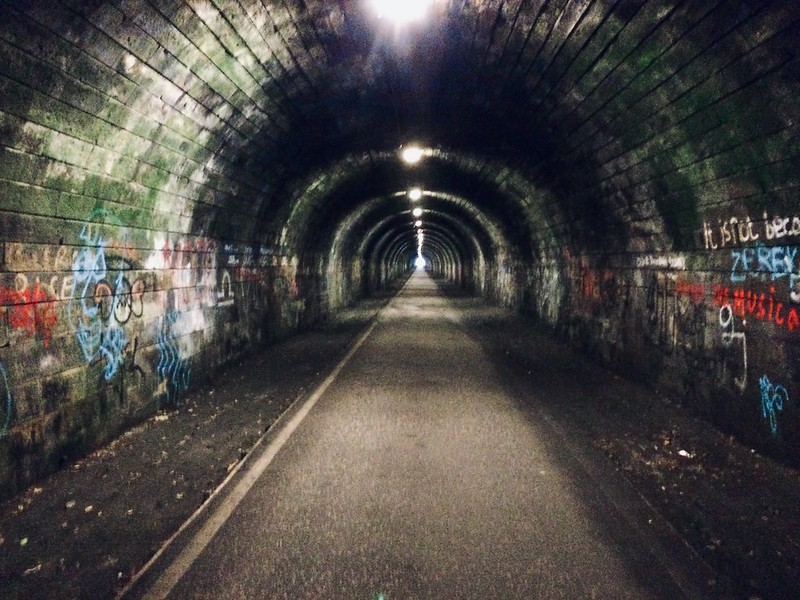 The innocent railway cycle path, Edinburgh