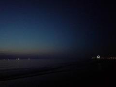 Night falls over Scheveningen #nightshot #horizon #dusk #skyline #pier #ferriswheel #sea #beach