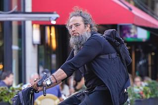 Bearded Bicyclist