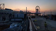 #construction #demolition #juxtaposition #dusk #pier #ferriswheel