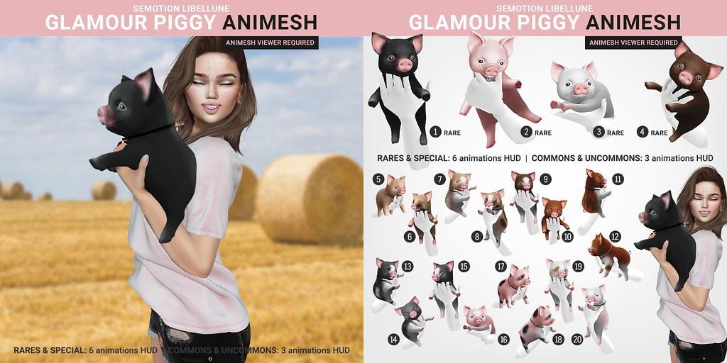 SEmotion Libellune Glamour Piggy Animesh