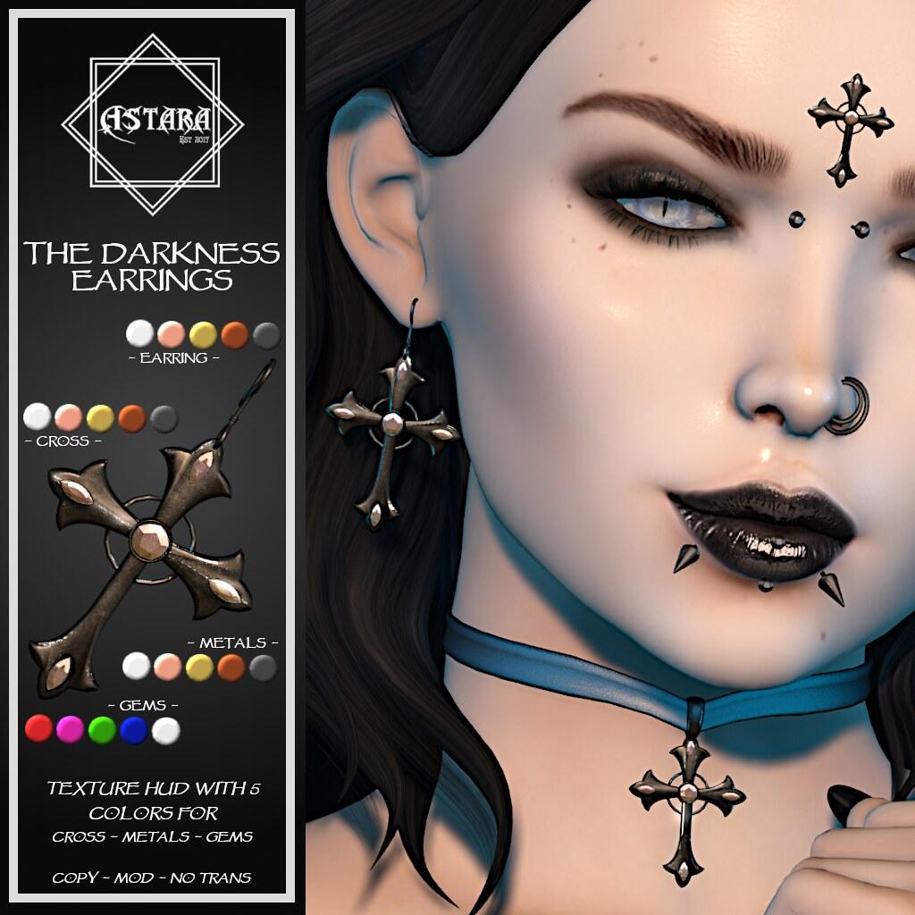 Astara – The Darkness Earrings