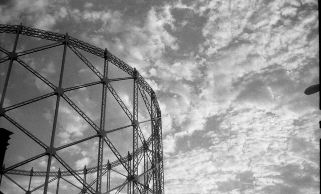 Gasometer & clouds