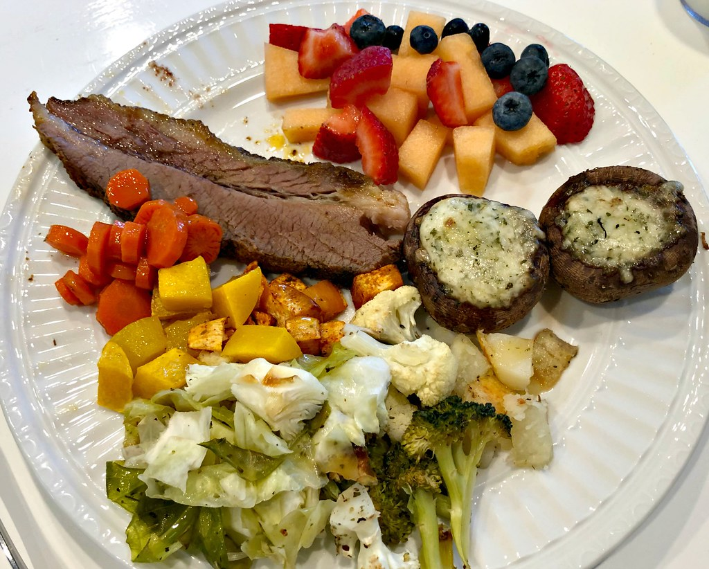beef brisket with roasted veggies