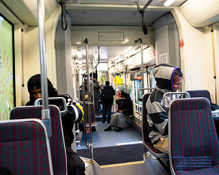 Inside A Seattle Streetcar at 8:11 AM 2018-11-09
