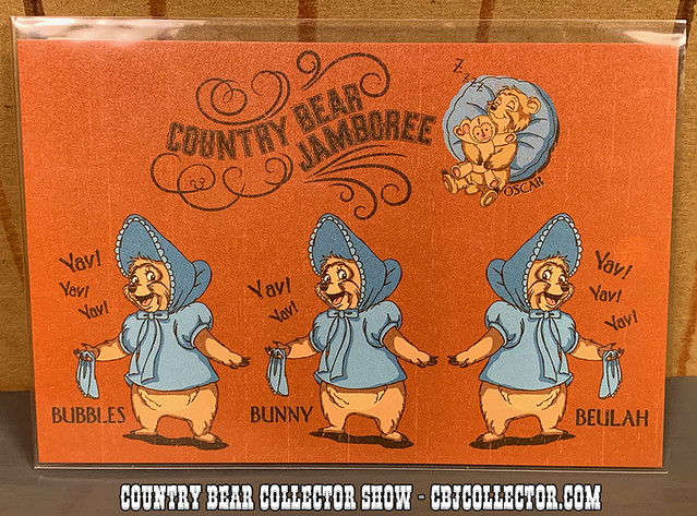 2008 Tokyo Disneyland 25th Country Bear Jamboree Postcard - Country Bear Collector Show #218