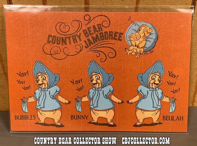 2008 Tokyo Disneyland 25th Country Bear Jamboree Postcard - Country Bear Collector Show #218