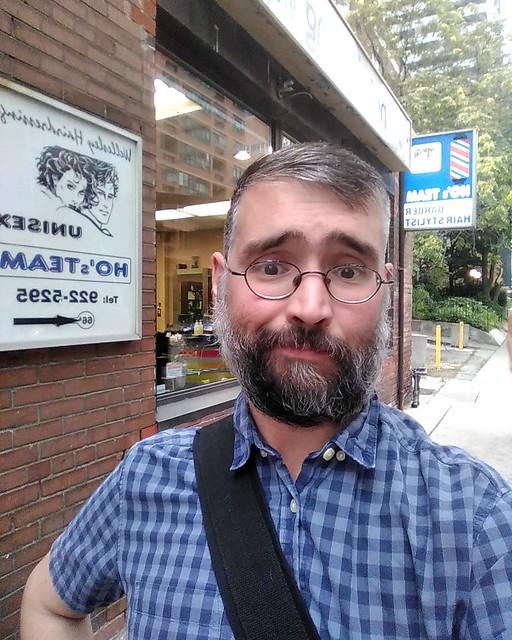 New look #toronto #churchandwellesley #me #selfie #hosteam #wellesleystreeteast #beard