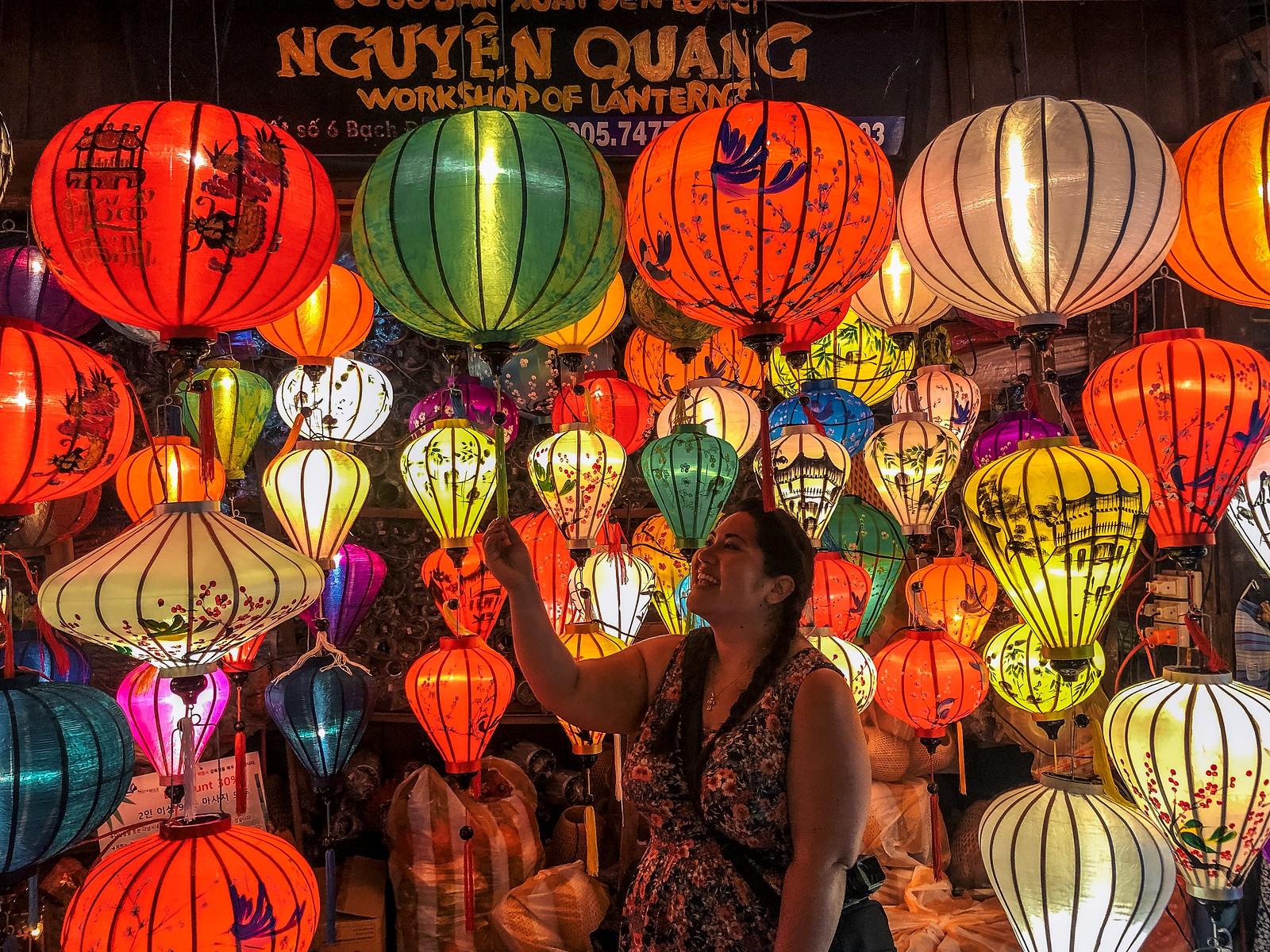 The market for Hoi An Lanterns