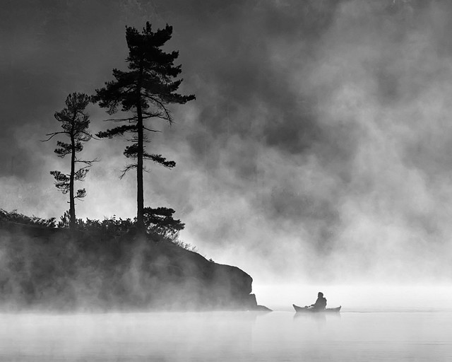 Grundy Lake Morning Mist - 3366