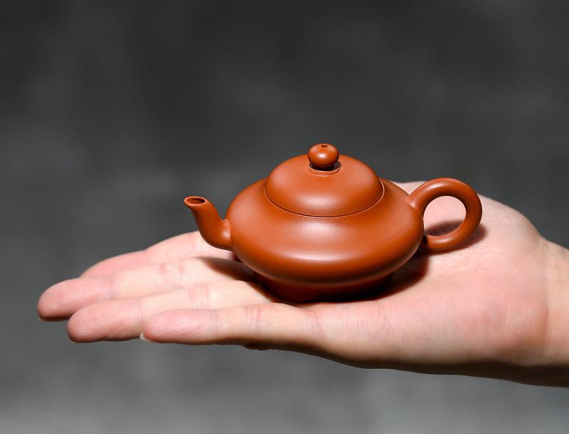 """Yixing """"Xiao Xu Bian"""" Teapot Capacity around 60CC Made from """"Zhu Ni"""" for China Gongfu Tea"""