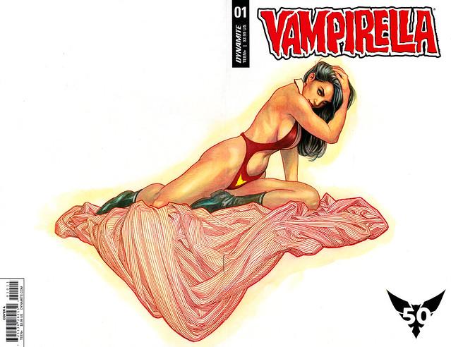 Vampirella (Dynamite) 1 (Frank Cho wraparound cover)