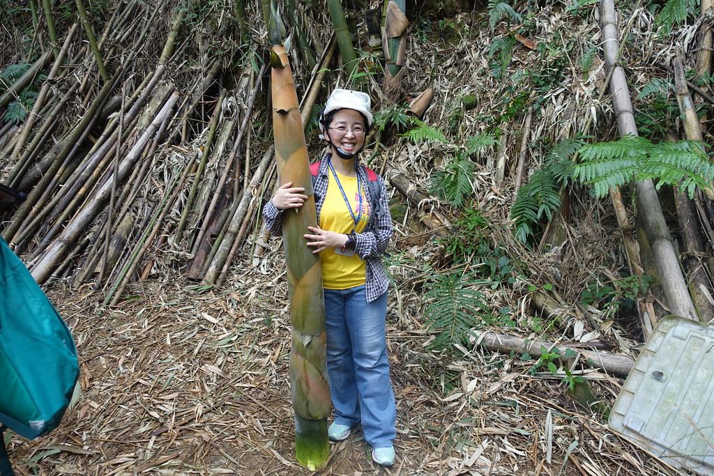 學員與巨竹。攝影:許芷榕
