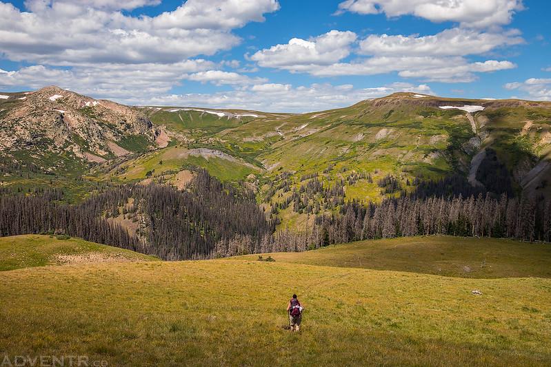 Descending from Indian Ridge